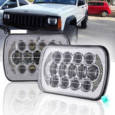 2 Pcs 7 Inch LED Headlight 85W 5