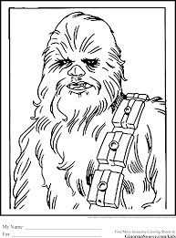 Star Wars Colouring Pages Chewbacca Wookie