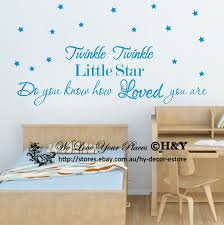 Ebay Wall Decoration Stickers by Twinkle Twinkle Little Star Wall Quotes Vinyl Decal Stickers Kids
