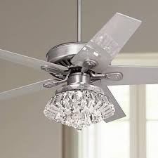 52 windstar ii steel crystal light kit ceiling fan 34053 66116