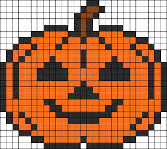 Halloween Perler Bead Templates by Halloween Pumpkin Perler Bead Pattern Broderie De Différents