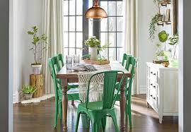 Dining Room With Green Chairs