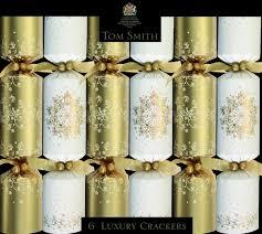 cream gold luxury christmas crackers