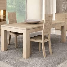 table chene table de salle a manger contemporaine avec rallonge