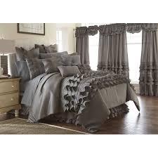 Bed Skirts Queen Walmart by 24 Piece Comforter Set Anastacia Platinum Queen Walmart Com