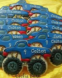 99 Monster Truck Party Favors Boy Theme Birthday Custom Decorated Cookies ShopHandmade