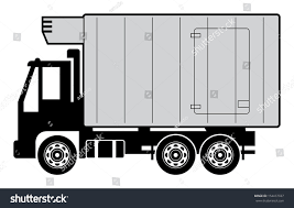Refrigerator Truck Vector Illustration Stock Vector (Royalty Free ...
