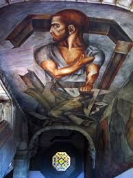 Jose Clemente Orozco Murales by Ceiling Of Colegio De San Ildefonso 1926 Jose Clemente Orozco