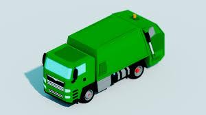 ArtStation - Low Poly Garbage Truck - Blender Speed Modelling ...