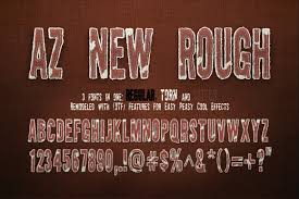AZ New Rough Font Family