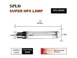 high pressure sodium hps grow light bulb
