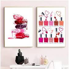 aslkuyt nagellack druck makeup illustration schönheit poster