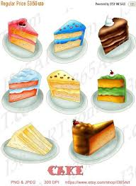 OFF Cake Clipart Cake Slices Birthday cake clip art Scrapbooking