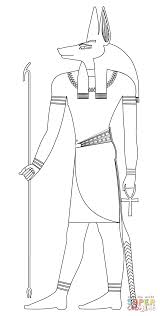 Click The Anubis Coloring Pages To View Printable Version Or Color It Online Compatible With IPad And Android Tablets