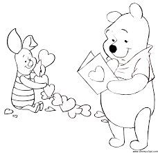 Free Disney Valentine Winnie Pooh Heart Coloring Pages
