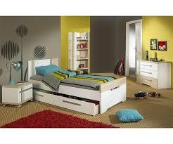 meubles chambres chambres enfants chambre enfant bora blanche et bois set de 4