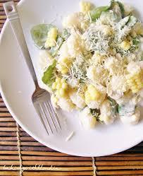 Pumpkin Gnocchi Recipe Nz by Baking With Blondie Gnocchi Sweet Corn U0026 Arugula In Cream Sauce
