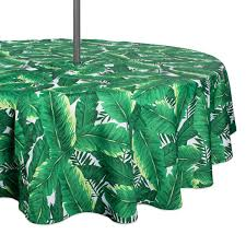 Rectangle Patio Tablecloth With Umbrella Hole by Amazon Com Dii 100 Polyester Spill Proof And Waterproof