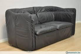 canapé cuir noir très beau petit canapé cuir 2 places noir 155 cm a vendre
