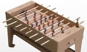 Recyclable Ball Games Kartoni Foosball Table