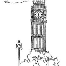 Big Ben Upper Tower Coloring Page Of The Palace Westminster