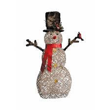 Ace Hardware Christmas Trees by Celebrations Led Snowman Christmas Decoration Natural Birch 60 In