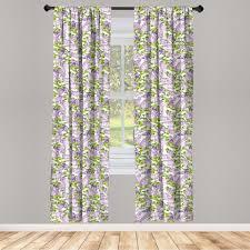 gardine fensterbehandlungen 2 panel set für wohnzimmer schlafzimmer dekor abakuhaus mauve botanic frühling pflanzen kaufen otto