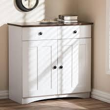 Baxton Studio Shoe Cabinet White by Baxton Studio Lauren Contemporary 30 42 In H X 31 2 In W White