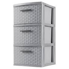 sterilite 3 drawer medium weave tower gray target