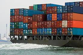 Image 7 678 5285 Shipping Containers Stacked On Container Ship View From