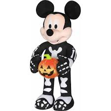 Walmart Halloween Blow Up Decorations by 2 U0027 Halloween Greeter Mickey Skeleton W P Walmart Com