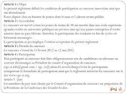 reglement interieur auto ecole reglement interieur du concours innovation ppt télécharger