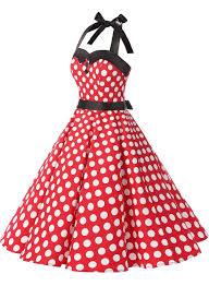 amazon com dressystar vintage polka dot retro cocktail prom