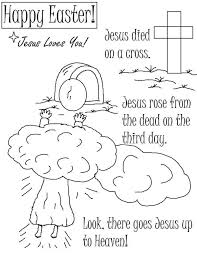 Jesus Died On A Cross And There Goes Resurrection Coloring Page