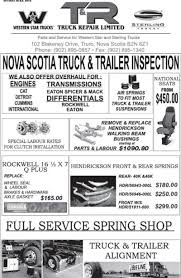 T&R Truck Repair Ltd - Opening Hours - 102 Blakeney Dr, Truro, NS Windsor Spring And Alignment Ltd Opening Hours 1016 Crawford Ave Steamboat Springs Co Rv Repair Mobile Maintenance Services Bench Unbelievable Chevy Seat Pictures Ideas How To Change Leaf Spring Pins And Bushings On A Big Truck Kansas Patewale More Photos Sinhagad Road Vadgaon Budruk Pune 18004060799 Dry Freight Box Truck Repairs Commercial Bodies Body Klein Auto Houston Tx Texas Transmission Tr 102 Blakeney Dr Truro Ns Cargo Repair Mobile Shop Rear Leaf Shackle Kit Pair For 8897 1500 2500 Pickup Trailer Ontario Sales Service Parts