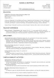 Sample Resume Recent Psychology Graduate And