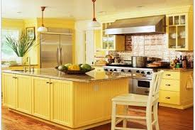 Yellow Kitchen Decorating Ideas Decor Cabinet