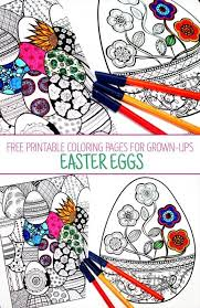 Easter Coloring Pages For Grown Ups Printable Adult