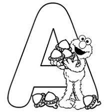 A For Acorn Letter Coloring Sheet