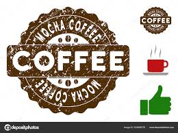 Mocha Coffee Quality Medallion Stamp Vector Seal With Grunge Effect And Color For Rubber Stamps Imitations Brown