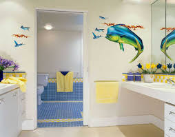 Mickey Mouse Bathroom Decorating Ideas by Bathroom Square Sweet Color Motif Combined With Mickey Decoration