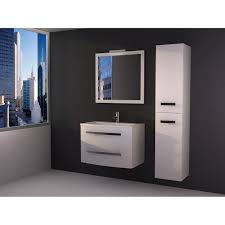 meuble de salle de bains de 80 à 99 blanc perla leroy merlin