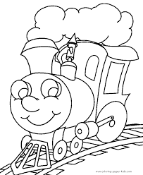 Train Coloring Book Pages Kids