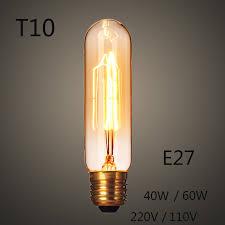 new t10 edison light bulb e27 incandescent light 40w 60w 220v 110v