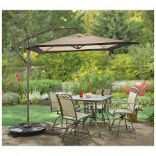Offset Patio Umbrella With Mosquito Net by Castlecreek Square Cantilever Patio Umbrella Khaki 234558