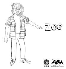 Image Of Zoe To Print And Color