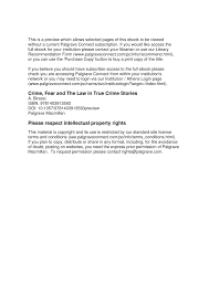 PDF Crime Fear And The Law In True Stories