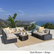 Shop Santa Cruz Outdoor 8-piece Wicker Sofa Set With Water Resistant ... Amazoncom Leaptime Patio Fniture Rattan Couch 5piece Deck Sofa Hanover Outdoor Metropolitan Wicker Frame Sunnydaze Decor Port Antonio Gray 4piece Metal Sectional Chaise Lounge Lounges Arrow Up Lyndee Blue White Striped Chair Goodglance And 2 Ding Room Outside Pe Hcom Dark Grey Accent Chairs Comfortable Sunbrella Cushions For Upper Outdoor Pillow Covers Throw Pillows Royal Etsy 5pcs Sofa Set Brown Cushion 7078 Exterior Cozy Wooden Material Lowes Navy Blue Patio Chair Cushion Cushions Navy