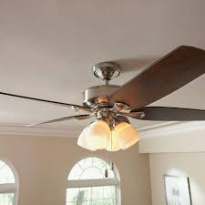 Hunter Ceiling Fan Capacitor Home Depot by Hunter Channing 52 In Indoor Brushed Nickel Ceiling Fan