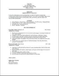 Example Of Resume For Administrative Assistant Gallery Website Samples 2